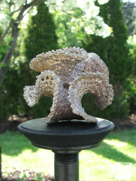 Hyperbolic crochet: bronze pseudosphere