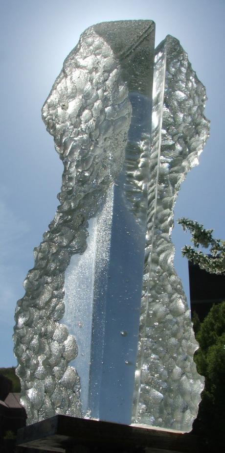 cast glass, steel